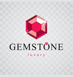 precious decorative element polygonal luxury vector image
