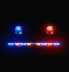 realistic ambulance siren vehicle electronic vector image