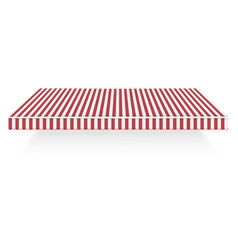 red white overhang icon realistic style vector image
