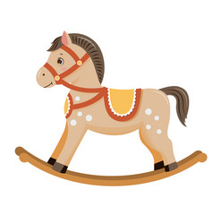 Rocking horse baby toy vector