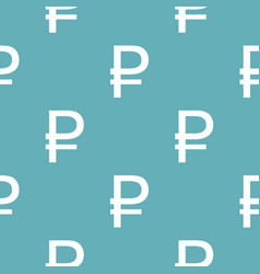 ruble symbol pattern seamless blue vector image