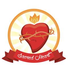sacred heart jesus christ image vector image