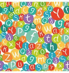 Seamless pattern - funny english alphabet vector image