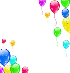 Set colourful flying balloons for your party vector image
