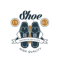 Shoe shop premium and high quality logo design vector
