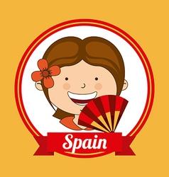 spain kid vector image