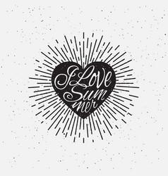Sparkling heart lettering vector