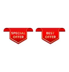 Special offer best offer tag label for promotion vector