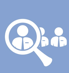 Staff search icon - finding a skilled employee vector