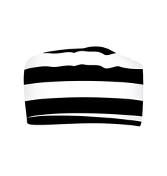 Striped prisoner cap vector