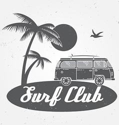 Surf club concept summer surfing retro badge vector