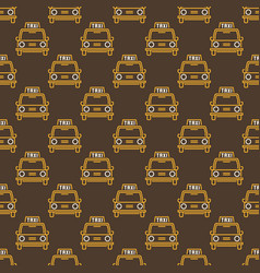 Taxi retro car seamless pattern in thin vector