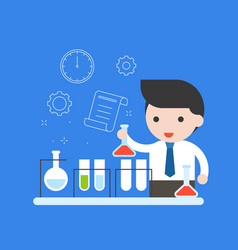 teacher or businessman experiment research in vector image