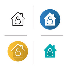 Tenant resident housekeeper owner icon vector
