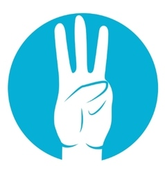three fingers icon vector image