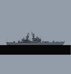 us navy california class guided missile cruiser vector image