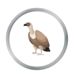 Vulture icon in cartoon style isolated on white vector