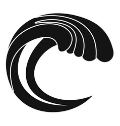 wave water nature icon simple black style vector image