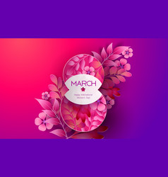 womens day 8 march greating card abstract vector image