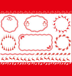 assorted abstract borders and frames vector image vector image