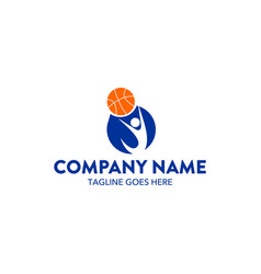 basket ball logo vector image