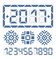 Happy new year 2017 digital card vector image vector image
