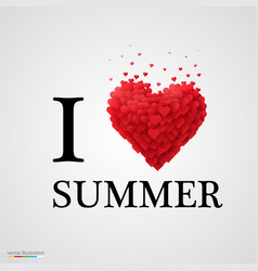 i love summer heart sign vector image vector image