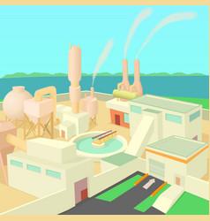 industrial factory concept cartoon style vector image