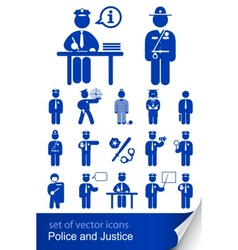 police and justice vector image
