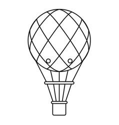 retro helium air balloon icon outline style vector image