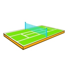 Tennis court icon cartoon style vector image vector image