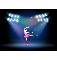 A woman dancing ballet with spotlights vector image vector image