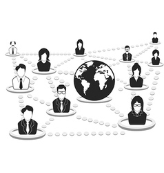 business people network vector image vector image