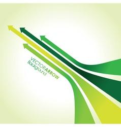 green arrow strips vector image vector image
