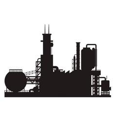 industry factory building vector image