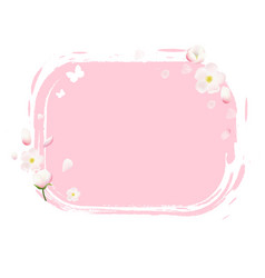 pink stain with flowers vector image vector image