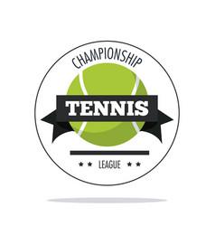 Ball of tennis sport design vector