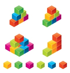 colourful childrens blocks vector image vector image