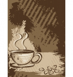 grunge coffee background vertical vector image