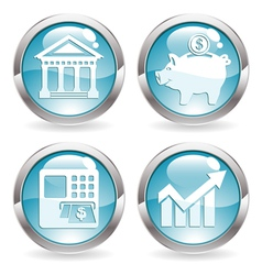 Set Business Buttons vector image vector image