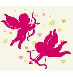 Valentine's Day cupid vector image
