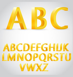 3d golden alphabet vector image