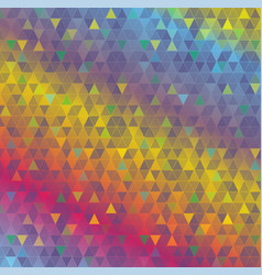 colorful abstract triangles background vector image vector image
