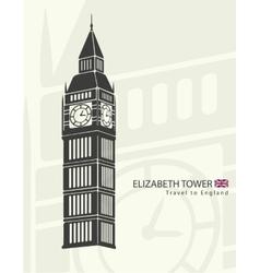 Elizabeth tower clock big Ben vector image vector image