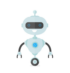happy smiling robot chat bot vector image
