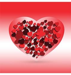 hearts love symbol vector image