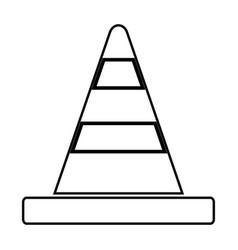 road cone black color icon vector image
