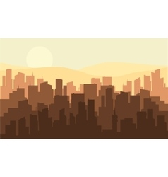 Silhouette of many industrial building vector image