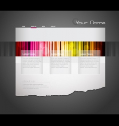 website template with stripes vector image vector image