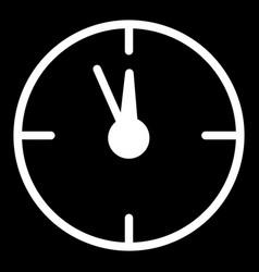 12 oclock year flat icon on black vector